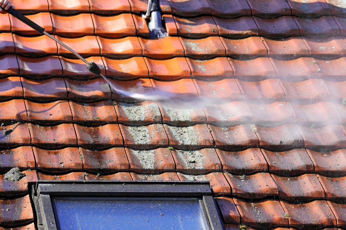 dak ontmossen bleekwater